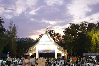 A pretty sunset during Loy Krathong in Chiang Mai, Thailand