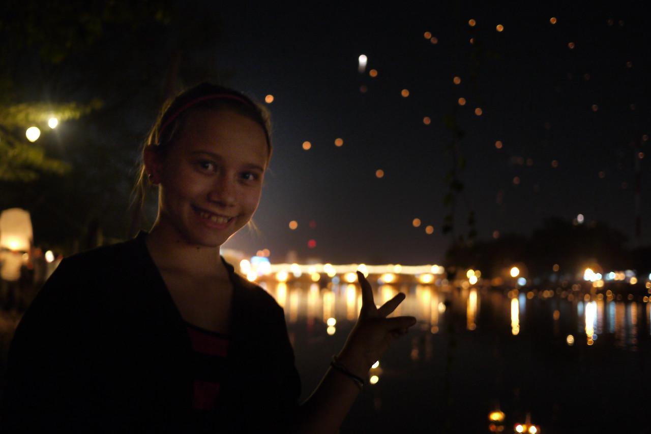 Ana, Loy Krathong in Chiang Mai, Thailand