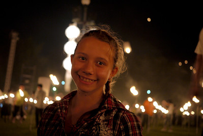 Ana at Loy Krathong in Chiang Mai, Thailand