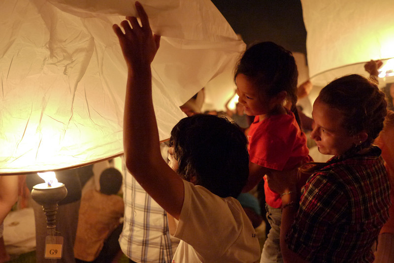 during Loy Krathong in Chiang Mai, Thailand