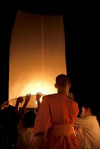 Loy Krathong in Mae Jo, Thailand