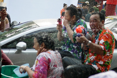 This guy is clearly having a wonderful Songkran in Chiang Mai, Thailand