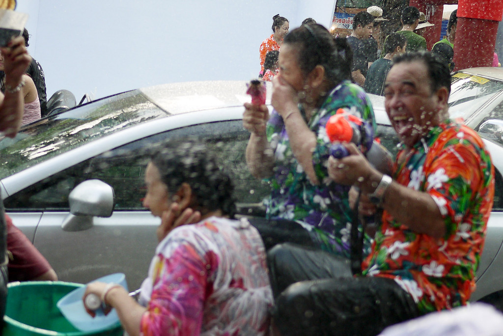 Songkran water fight in Chiang Mai, Thailand