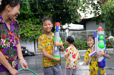 A family affair for Songkran in Chiang Mai, Thailand