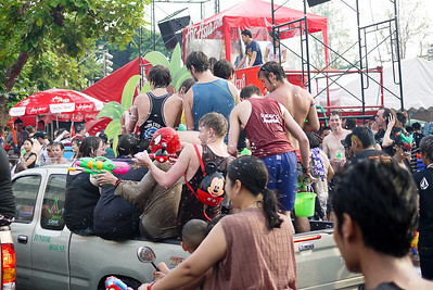How many people fit in one truck again? Songkran in Chiang Mai, Thailand