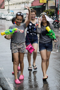 On the prowl for more water fights during Songkran in Chiang Mai, Thailand
