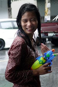 Wandering the streets for Songkran mischief in Chiang Mai, Thailand