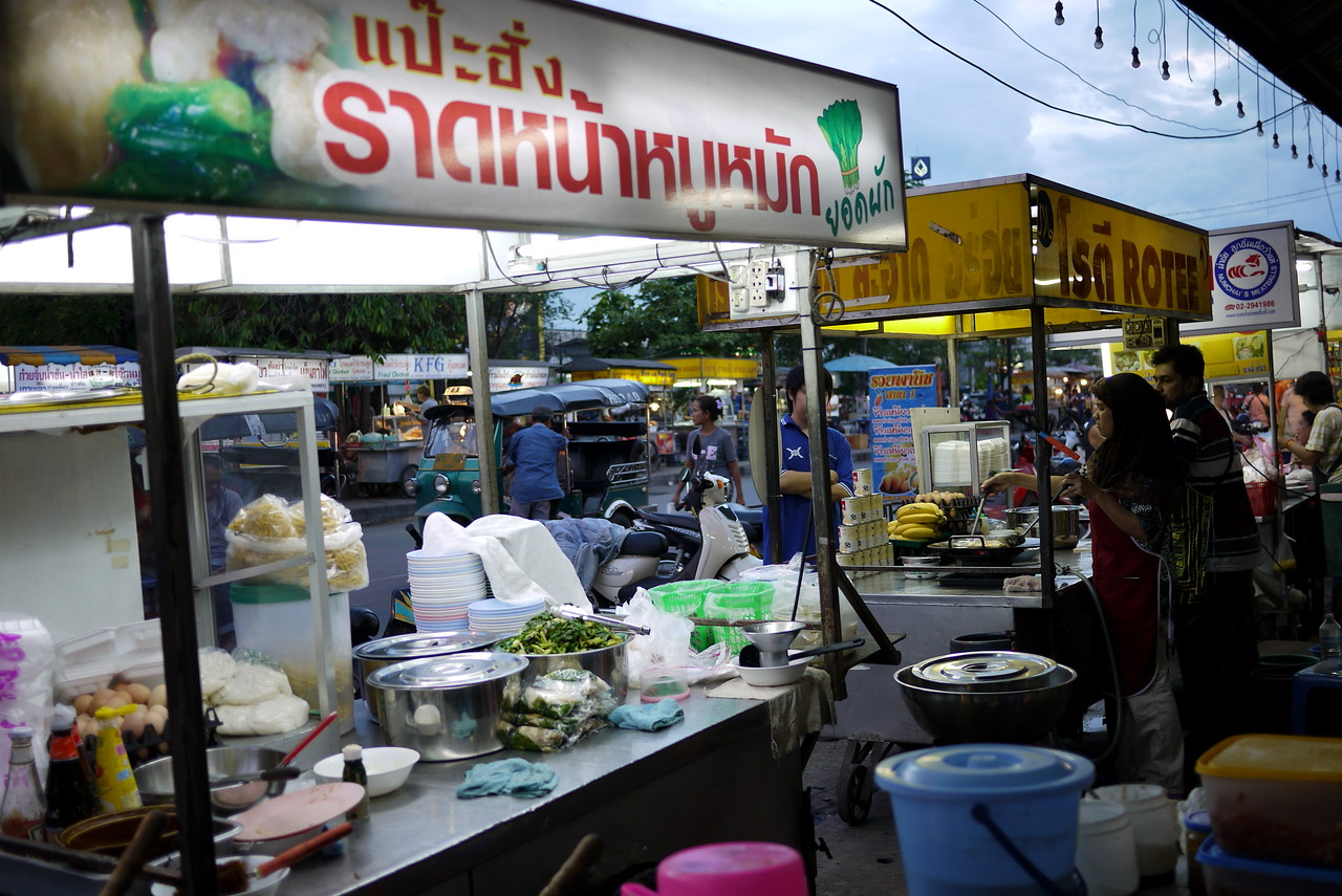 Chiang Mai Gate Market (South Gate) seen from behind