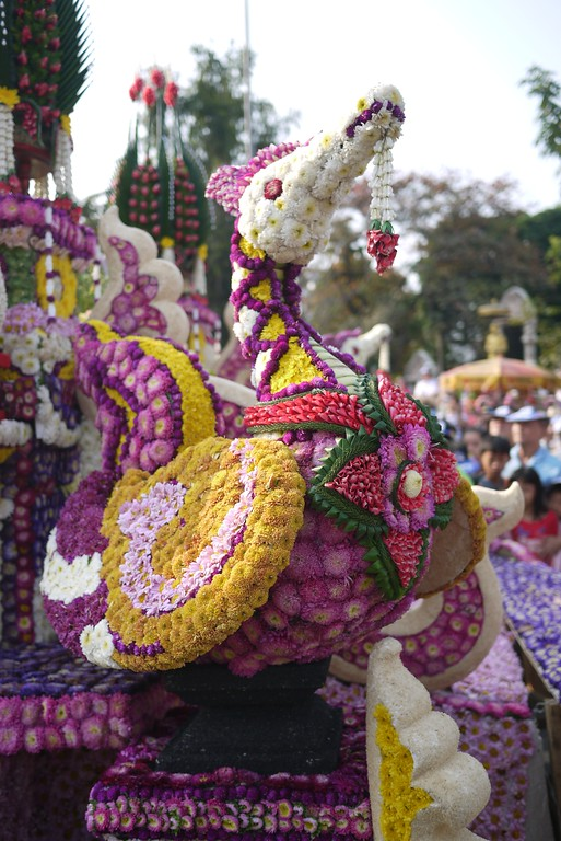 Flower dragon at the Chiang Mai Flower Festival, Thailand