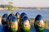 Irkoetsk,painted eggs,beschilderde eieren,oeufs paints, Siberia,Siberië 1-71-17-0060
