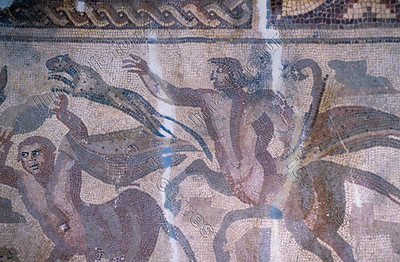 Mosaic,mozaïk,mosaïque,hunt of the centaur,jacht,chasse,Palmyra