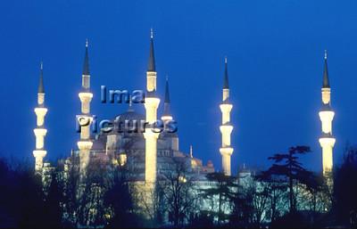 1-71-03-0221 Turkey Turkije Turquie Istanbul blue mosque blauwe moskee mosquée blue