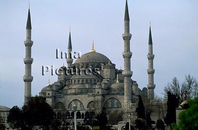 1-71-03-0 282Turkey Turkije Turquie Istanbul blue mosque blauwe moskee mosquée blue