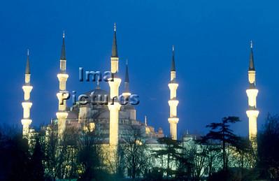1-71-03-0032 Turkey Turkije Turquie Istanbul blue mosque blauwe moskee mosquée blue