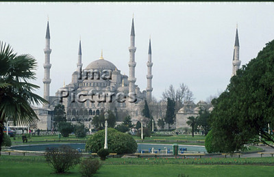 1-71-03-0285 Turkey Turkije Turquie Istanbul blue mosque blauwe moskee mosquée blue