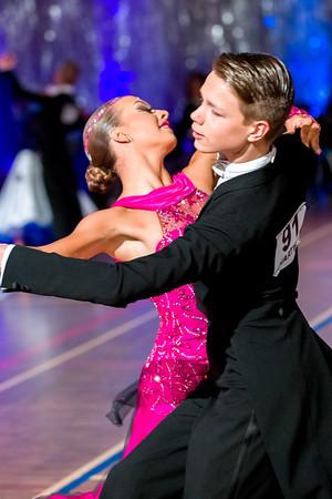 Juho Lipsonen, Emilia Lahti Cavalier, Järvenpää. Ystävänpäivän GB-kilpailut Nuoriso 10-Tanssi vakiot