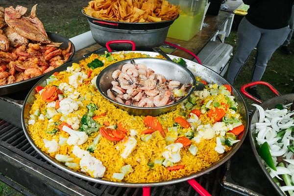 Rice, veggies and shrimp
