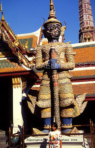 Temple Gaurd Statue. Grand Palace. Bangkok. Thailand Clent: Stock Photography Agency.