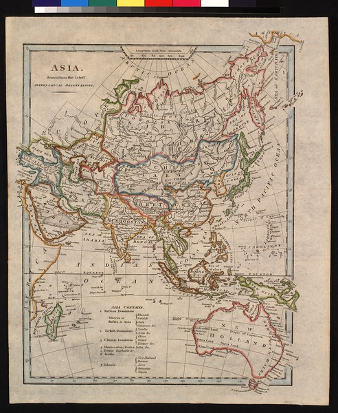 Asia, drawn from the latest astronomical observations