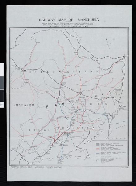 Railway map of Manchuria