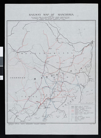 Railway map of Manchuria