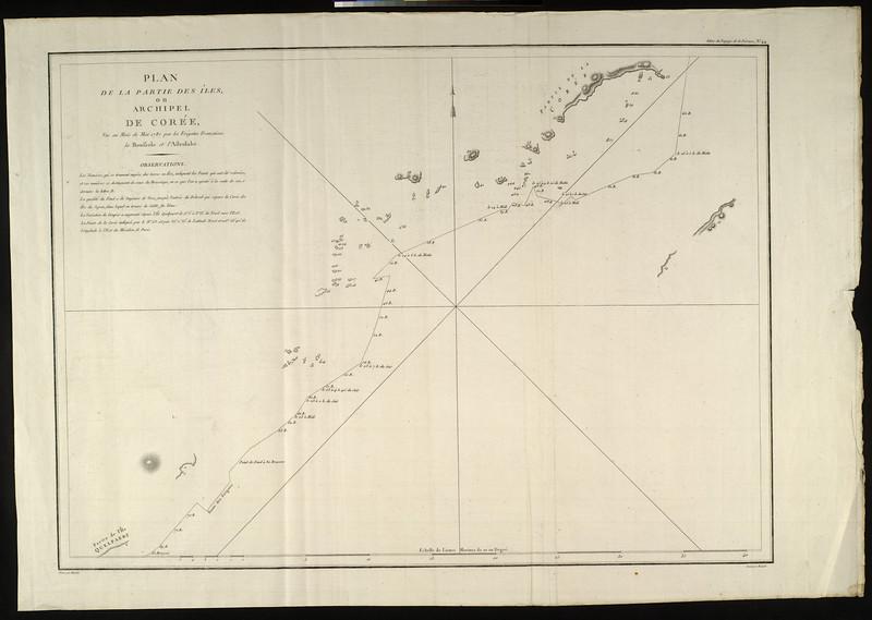 Plan de la partie des îles, ou archipel de Corée : vue au mois de Mai 1787 par lees Frégates Françaises la Boussole et l'Astrolabe