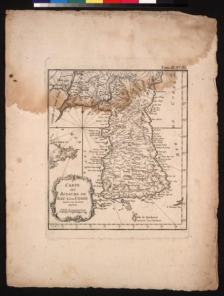 Carte du royaume de Kau-li on Corée : copiée sur la carte angloise