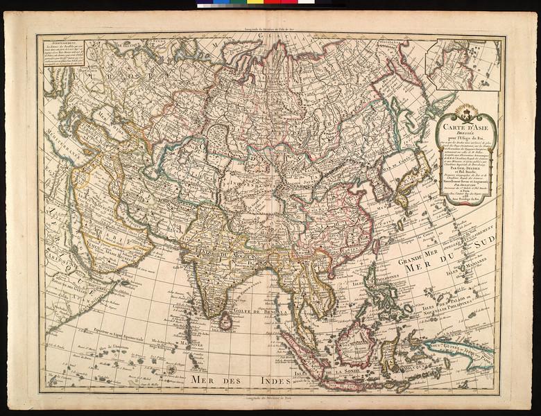 Carte d'Asie dressée pour l'usage du Roi : sur ce que les Arabes nous ont laissé de plus éxact des Pays Orienteaux