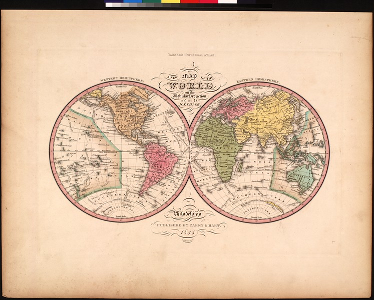 A new map of the world on the globular projection