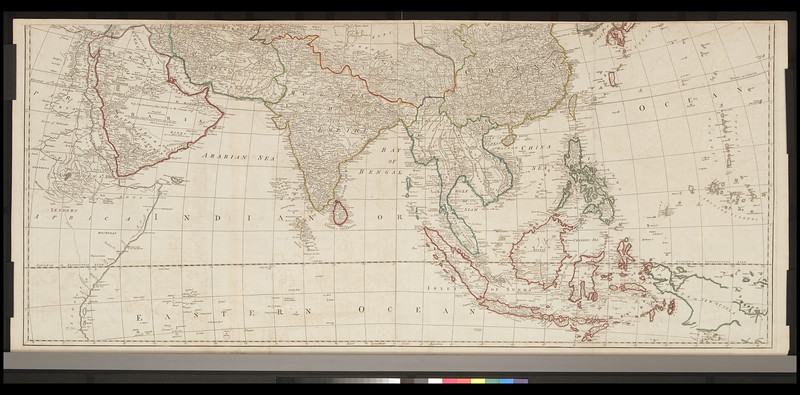 Asia according to the Sieur D'Anville, divided into its empires kingdoms & states, shewing the European settlements in the East Indies and all the new discoveries, made by the Russians the Dutch and the English