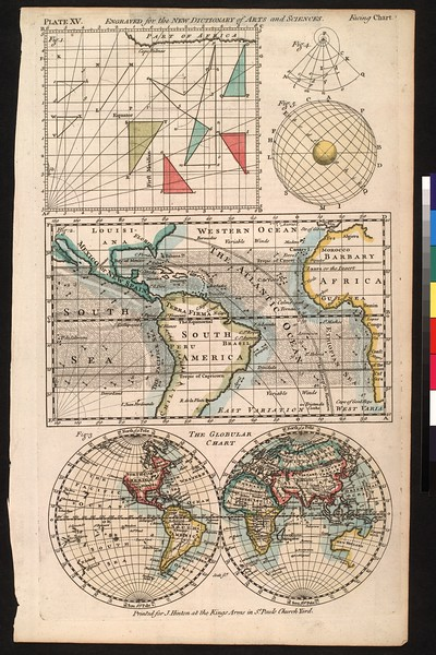 The globular chart : engraved for the New dictionary of arts and sciences.