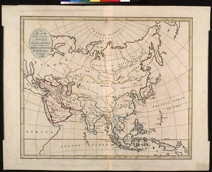 A map of Asia according to the method of the Abbe Gaultier
