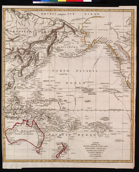 A chart exhibiting the new discoveries in the north & south Pacific Ocean : also those on the north-west coast of North America, and on the eastern coast of Tartary