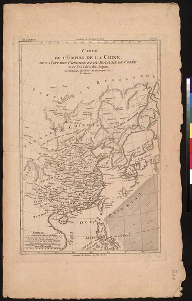 Carte de l'empire de la Chine, de la Tartarie Chinoise et du Royaume de Corée : avec les Isles du Japon