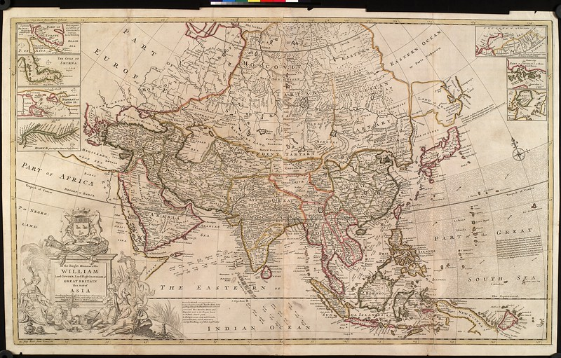 To the Right Honourable William, Lord Cowper, Lord High Chancellor of Great Britain, this map of Asia : according to ye newest and most exact observations is most humbly dedicated