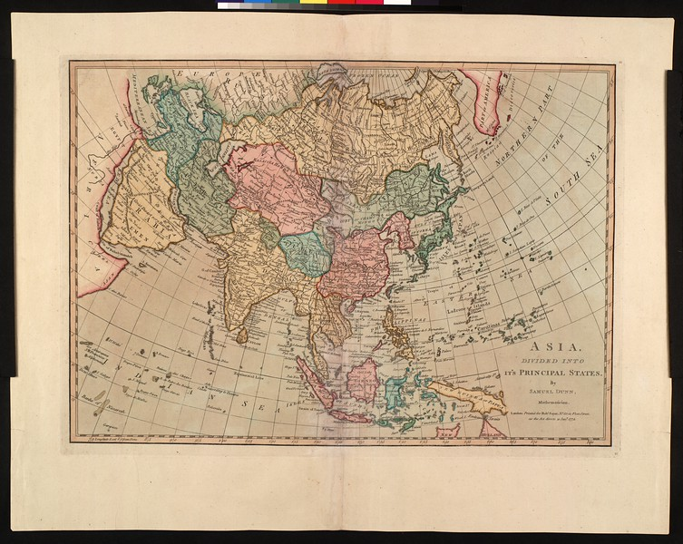 Asia, divided into its principal states