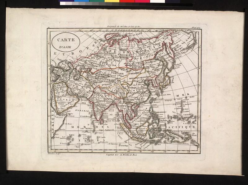 Carte d'Asie