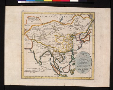 Charte von China und den angrenzenden Ländern und Völkerschaften : so wie sie dem letzten Kaiser Tschien-Long unterworfen warten