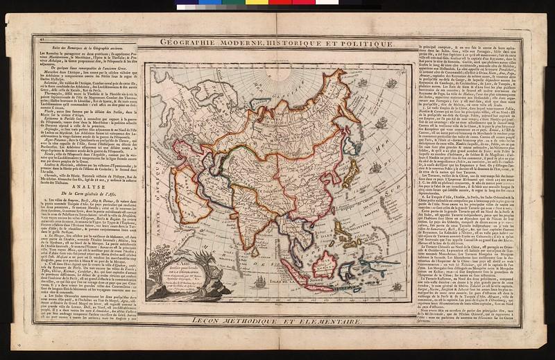 L'Asie, dressée pour l'étude de la géographie