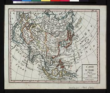 Carte d'Asie, divisée en ses principaux etats : assujettie aux observations astronomiques.