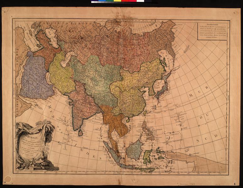 L'Asie divisée en ses principaux etats : assujettie aux observations astronomiq