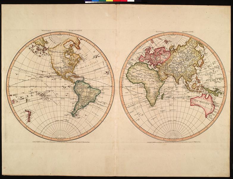 Western hemisphere, eastern hemisphere