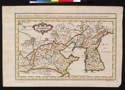 Carte du Katay, ou Empire de Kin : pour servir a l'Histoire de Jenghiz Khan