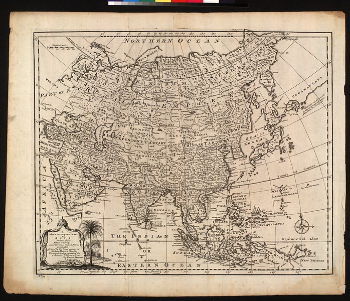 A new & accurate map of Asia : drawn from actual surveys, and otherwise collected from journals