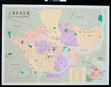 Map of Shanghai proper