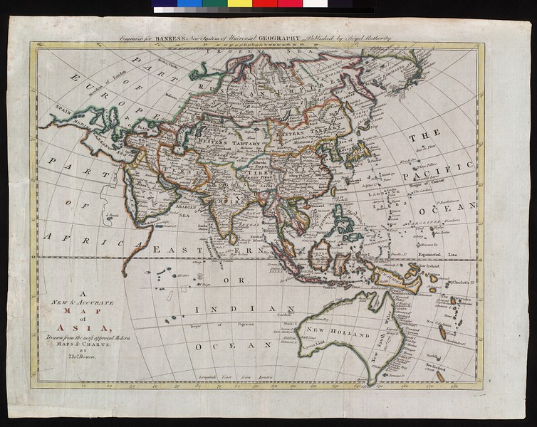 A new & accurate map of Asia : drawn from the most approved modern maps & charts