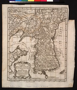 Carte de la province de Quantong ou Lyau-tong et du Royaume de Kau-li ou Corée : pour servir a l'Histoire universelle d'une Societé de gens de lettres