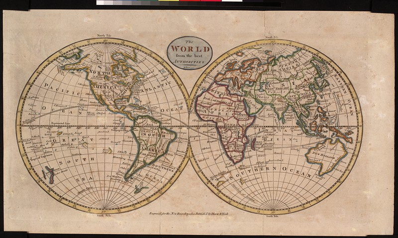 The world from the best authorities : engraved for the New Encyclopedia.