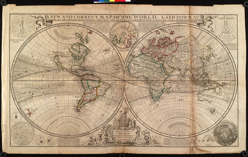 A new and correct map of the world, laid down according to the newest discoveries, and from the most exact observations