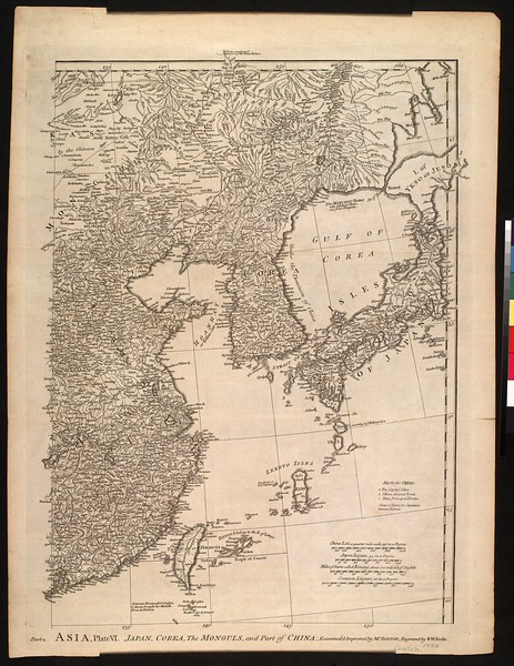Asia, plate VI : Japan, Corea, the Monguls, and part of China